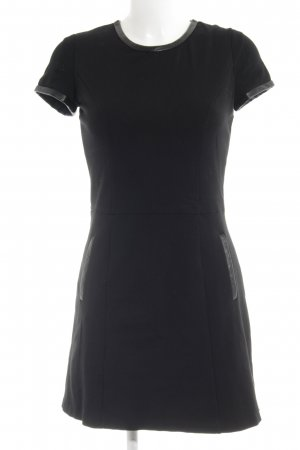 Mango Casual Sportswear Minikleid schwarz Lederelemente
