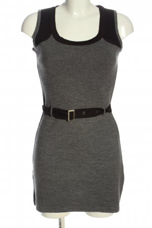 Mango Casual Sportswear Minikleid hellgrau-schwarz meliert Casual-Look