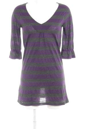 Mango Casual Sportswear Shirtkleid dunkelgrau-lila Streifenmuster Casual-Look
