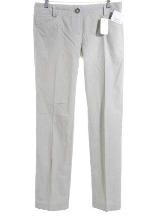 Mango Casual Sportswear Stoffhose weiß-khaki Streifenmuster schlichter Stil