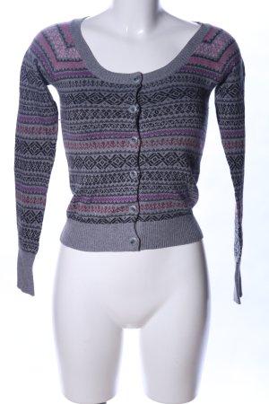 Mango Casual Sportswear Strickjacke Allover-Druck Casual-Look