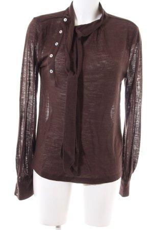 Mango Casual Sportswear Strickshirt braun Casual-Look
