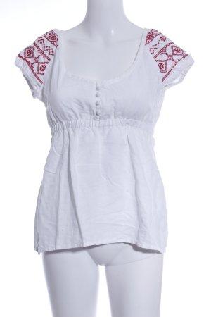 Mango Casual Sportswear T-Shirt weiß-rot Casual-Look