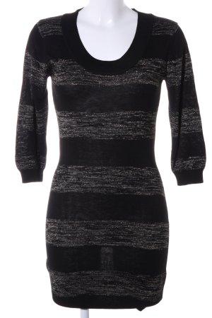 Mango Casual Sportswear Tunikakleid schwarz-hellgrau meliert Business-Look
