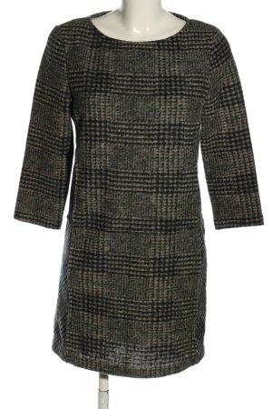 Mango Casual Sportswear Vestito di lana marrone-nero motivo a quadri