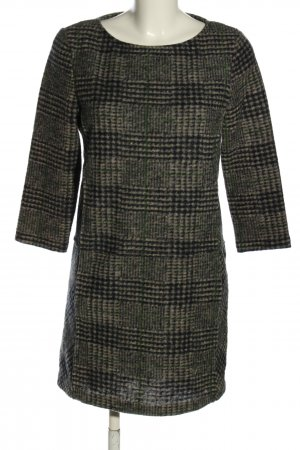 Mango Casual Sportswear Wollkleid braun-schwarz Karomuster Casual-Look