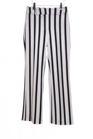 Mango casual Strapped Trousers white-black striped pattern casual look