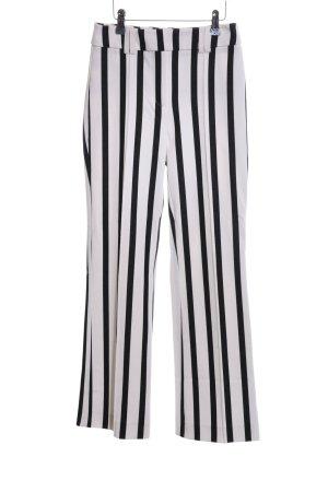 Mango casual Pantalone sfoderato bianco-nero motivo a righe stile casual
