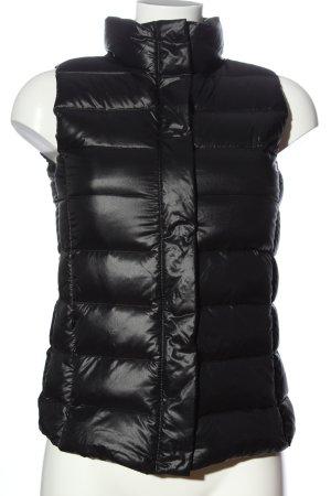 Mango casual Gewatteerd vest zwart quilten patroon casual uitstraling