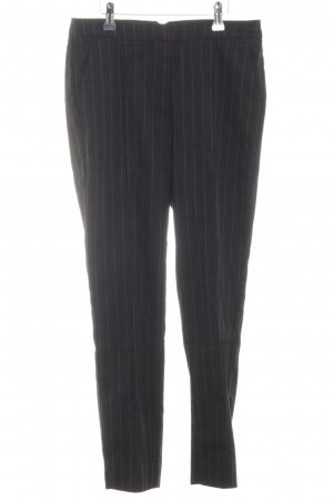 Mango casual Stoffhose schwarz-weiß Streifenmuster Business-Look