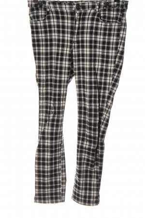 Mango casual Jersey Pants black-white check pattern casual look