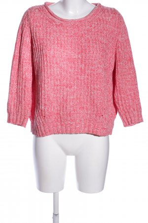 Mango casual Strickpullover pink Zopfmuster Casual-Look