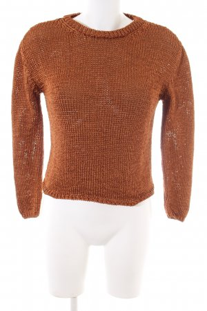 Mango casual Strickpullover braun Casual-Look