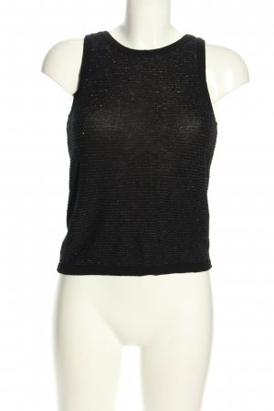 Mango casual Stricktop schwarz Casual-Look