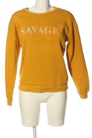 Mango casual Sweatshirt hellorange-weiß Casual-Look