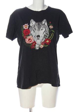 Mango casual T-Shirt Motivdruck Casual-Look