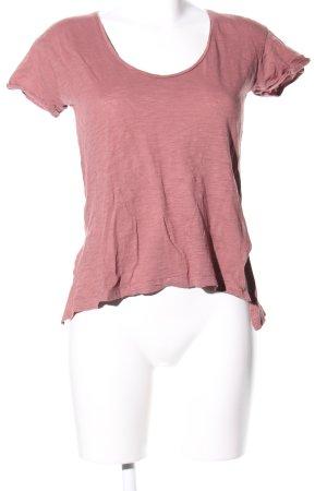 Mango casual T-Shirt pink meliert Casual-Look