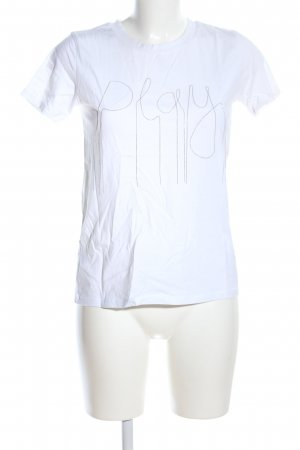 Mango casual T-Shirt weiß Schriftzug gedruckt Casual-Look