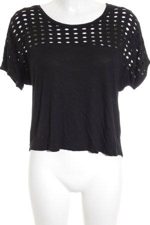 Mango casual T-Shirt schwarz Street-Fashion-Look