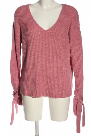 Mango casual V-Ausschnitt-Pullover pink Casual-Look