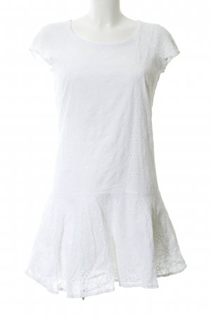 Mango casual Flounce Dress white casual look