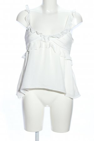Mango casual Flounce Top white casual look