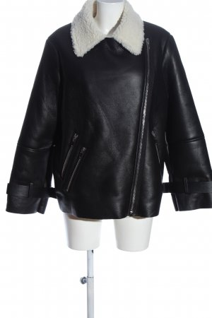 Mango casual Waxed Jacket black-white casual look