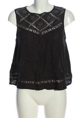 MANGO CASUAL WEAR ärmellose Bluse schwarz Casual-Look