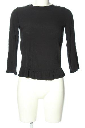 MANGO CASUAL WEAR Langarm-Bluse schwarz Casual-Look