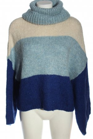 Mango casual Wool Sweater natural white-blue casual look