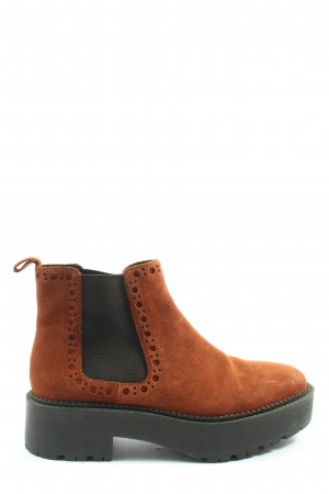 Mango Chelsea Boots hellorange-schwarz Casual-Look