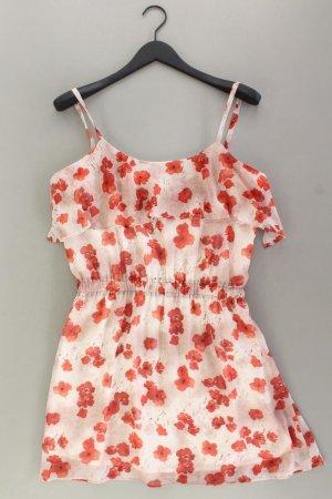 Mango Chiffonkleid Größe L neuwertig Träger rot aus Polyester