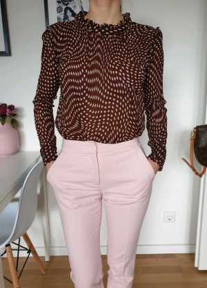 Mango Chino Hose XS 32 34 rosa Business Röhre Bundfaltenhose Pants Leggings Neu