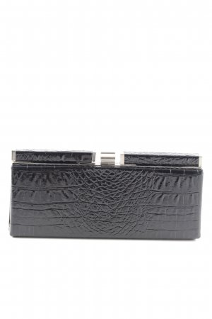 Mango Clutch schwarz Animalmuster Casual-Look
