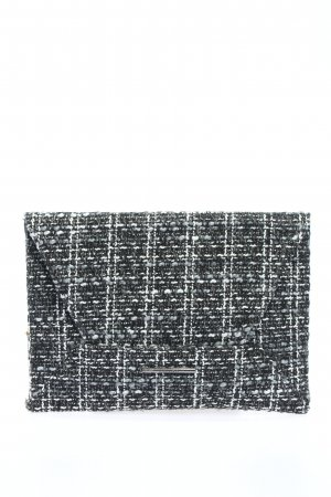 Mango Clutch schwarz-weiß meliert Casual-Look