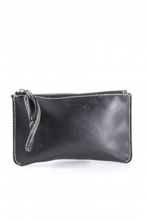 Mango Clutch schwarz Business-Look