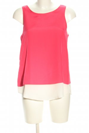Mango collection ärmellose Bluse pink-weiß Casual-Look