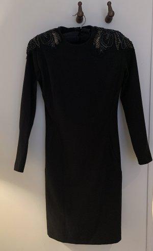 Mango Collection Kleid XS 34 schwarz elegant Pailletten