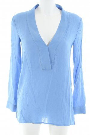 Mango collection Langarm-Bluse blau Casual-Look