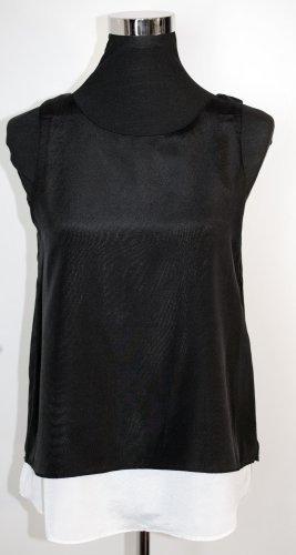 MANGO Collection Layering Top Bluse in Schwarz-Weiß Gr. S wie 36