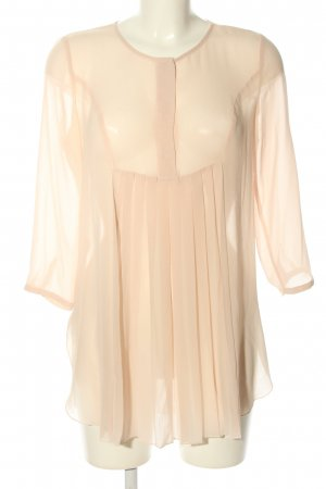 Mango collection Transparenz-Bluse creme Business-Look
