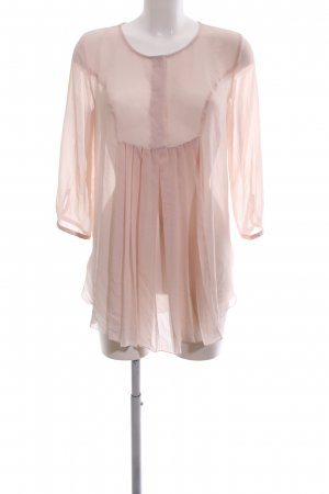 Mango collection Transparenz-Bluse pink Casual-Look
