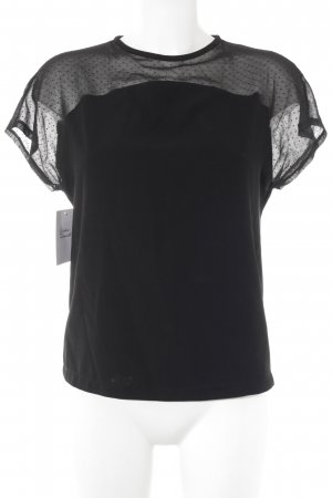 Mango collection Transparenz-Bluse schwarz Punktemuster Elegant