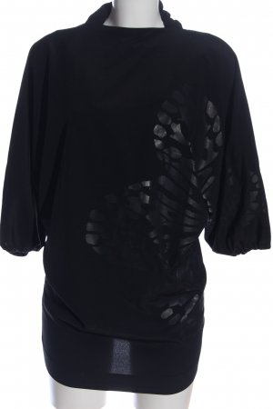 Mango collection Tunikabluse schwarz grafisches Muster Casual-Look