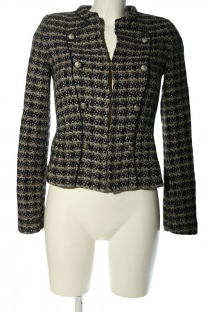 Mango collection Tweed Blazer black-light grey check pattern business style