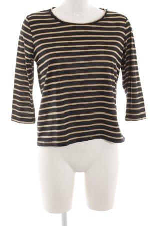 Mango collection U-Boot-Shirt schwarz-nude Streifenmuster Casual-Look