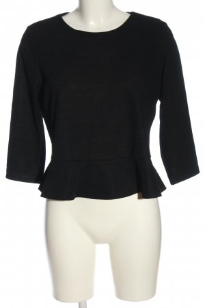 Mango Cropped Pullover schwarz Casual-Look