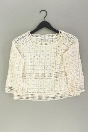 Mango Cropped Shirt Größe S 3/4 Ärmel creme aus Baumwolle