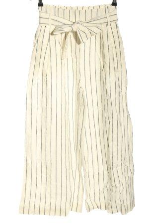 Mango Culottes weiß-schwarz Allover-Druck Casual-Look