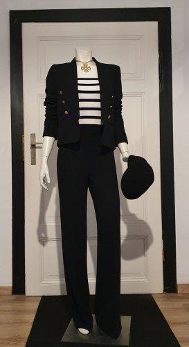 Mango Suit Pantalon de costume noir polyester
